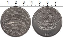 Изображение Монеты Либерия 2 доллара 1983 Медно-никель UNC-