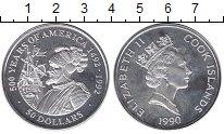 Изображение Монеты Новая Зеландия Острова Кука 50 долларов 1990 Серебро Proof-