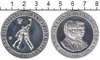 Изображение Монеты Европа Испания 2000 песет 1990 Серебро Proof-