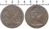 Изображение Монеты Австралия и Океания Новая Зеландия 1 доллар 1969 Медно-никель XF
