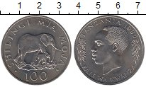 Изображение Монеты Африка Танзания 100 шиллингов 1986 Медно-никель UNC-