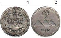 Изображение Монеты Гватемала 1/4 реала 1890 Серебро XF