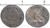 Изображение Монеты Северная Америка Гватемала 1/4 реала 1898 Серебро XF