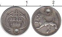Изображение Монеты Гватемала 1/4 реала 1864 Серебро VF