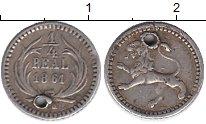 Изображение Монеты Гватемала 1/4 реала 1861 Серебро VF
