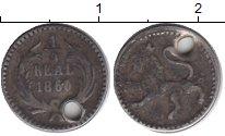Изображение Монеты Северная Америка Гватемала 1/4 реала 1860 Серебро VF