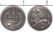 Изображение Монеты Гватемала 1/4 реала 1862 Серебро XF