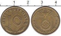 Изображение Монеты Третий Рейх 10 пфеннигов 1937 Латунь XF E
