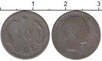 Изображение Монеты Европа Дания 10 эре 1885 Серебро VF