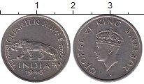 Изображение Монеты Индия 1/4 рупии 1946 Медно-никель XF