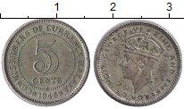 Изображение Монеты Великобритания Малайя 5 центов 1945 Серебро XF