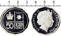Изображение Монеты Австралия 50 центов 2002 Серебро Proof Елизавета II.  50  л