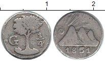 Изображение Монеты Северная Америка Гватемала 1/4 реала 1851 Серебро VF