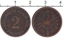 Изображение Монеты Европа Германия 2 пфеннига 1874 Медь XF