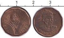 Изображение Монеты Африка Свазиленд 1 цент 1975 Медь XF