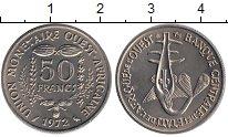 Изображение Монеты Западная Африка 50 франков 1972 Медно-никель UNC-