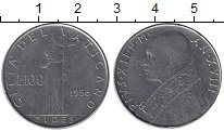 Изображение Монеты Европа Ватикан 100 лир 1956 Железо XF