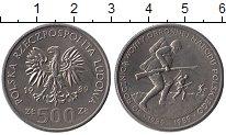 Изображение Монеты Европа Польша 500 злотых 1989 Медно-никель UNC-