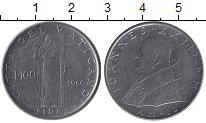 Изображение Монеты Ватикан 100 лир 1960 Медно-никель UNC-