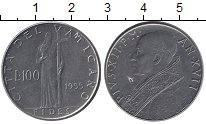 Изображение Монеты Европа Ватикан 100 лир 1955 Железо XF