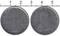 Изображение Монеты Европа Ватикан 100 лир 1959 Медно-никель UNC-