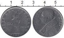 Изображение Монеты Европа Ватикан 100 лир 1955 Медно-никель UNC-