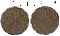 Изображение Монеты Азия Индия 1 анна 1945 Латунь XF