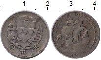 Изображение Монеты Европа Португалия 2 1/2 эскудо 1944 Серебро VF