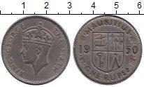 Изображение Монеты Африка Маврикий 1 рупия 1950 Медно-никель XF