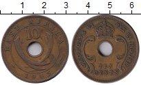 Изображение Монеты Великобритания Восточная Африка 10 центов 1945 Медь XF