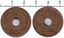 Изображение Монеты Восточная Африка 5 центов 1943 Медь XF