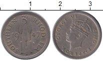 Изображение Монеты Великобритания Родезия 3 пенса 1947 Медно-никель XF