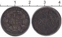 Изображение Монеты Германия 1/2 марки 1917 Серебро VF