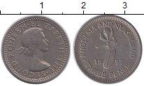 Изображение Монеты Родезия 3 пенса 1957 Медно-никель XF Елизавета II
