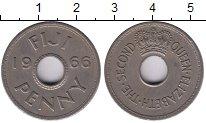 Изображение Монеты Фиджи 1 пенни 1966 Медно-никель XF
