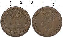 Изображение Монеты Западная Африка 2 шиллинга 1946 Латунь XF