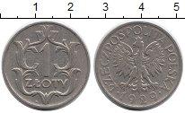 Изображение Монеты Польша 1 злотый 1929 Медно-никель XF