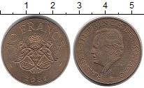 Изображение Монеты Европа Монако 10 франков 1981 Бронза XF