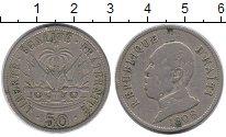 Изображение Монеты Северная Америка Гаити 50 сантим 1908 Медно-никель XF