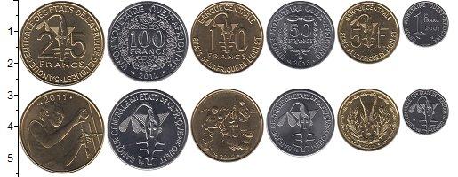 Изображение Наборы монет Африка Центральная Африка Центральная Африка 2001-2014 2001  UNC