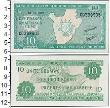 Изображение Банкноты Бурунди 10 франков 2007  UNC