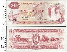 Изображение Банкноты Гайана 1 доллар 0  UNC