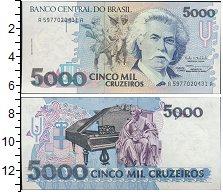 Изображение Банкноты Южная Америка Бразилия 5000 крузейро 0  UNC