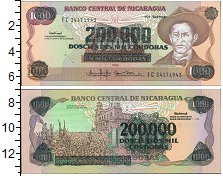Изображение Банкноты Никарагуа 200000 кордобас 1985  UNC-