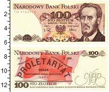 Изображение Банкноты Польша 100 злотых 1988  UNC *