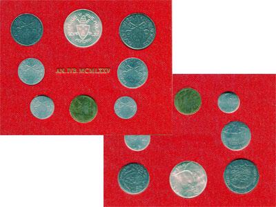 Изображение Подарочные монеты Европа Ватикан Набор монет 1975 года 1975