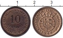 Изображение Монеты Ангола 10 сентаво 1948 Бронза XF