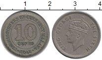 Изображение Монеты Малайя 10 центов 1948 Медно-никель XF