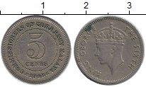 Изображение Монеты Малайя 5 центов 1948 Медно-никель XF Георг VI