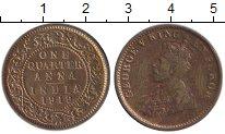 Изображение Монеты Индия 1/4 анны 1919 Бронза VF